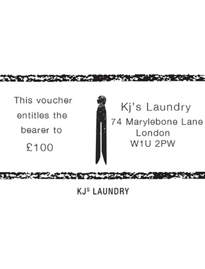 KJs Laundry Gift Card £100
