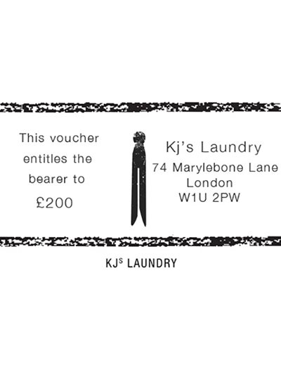 KJs Laundry Gift Card £200
