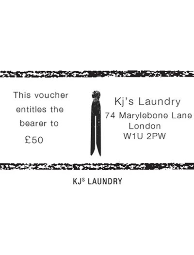 KJs Laundry Gift Card £50