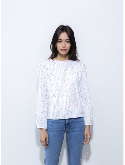 Sabine Top  - White Print