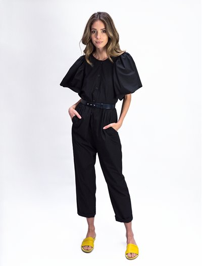 Short Sleeve JumpSuit - Black