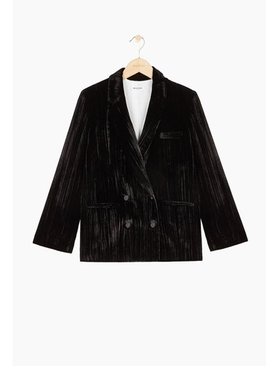 Wallis Sude Blazer Jacket - Black