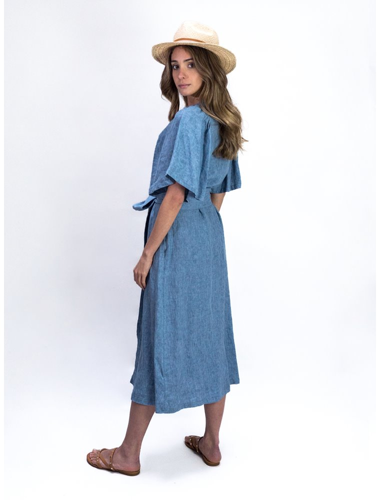 Wrap Dress - Ocean Blue Image