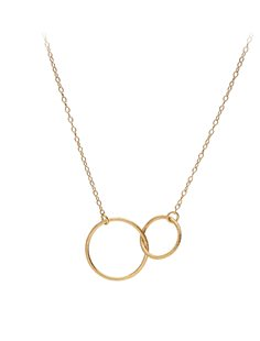 Double Plain Necklace - Gold