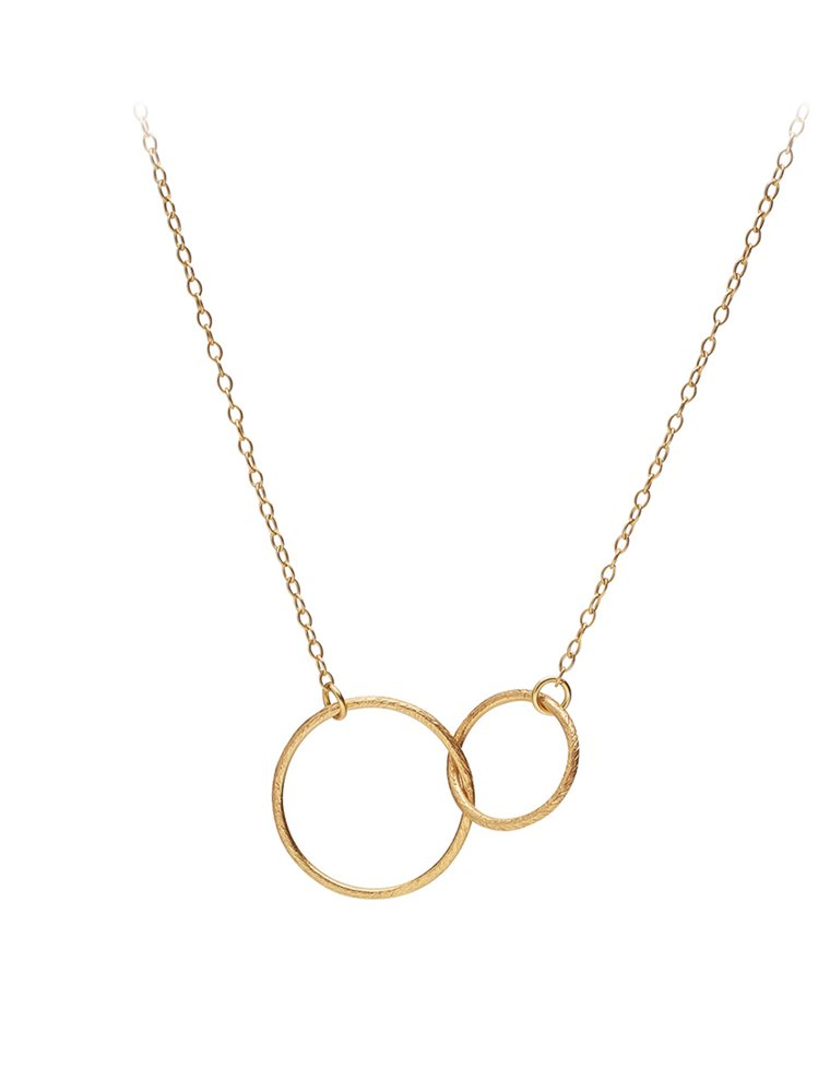 Double Plain Necklace - Gold Image