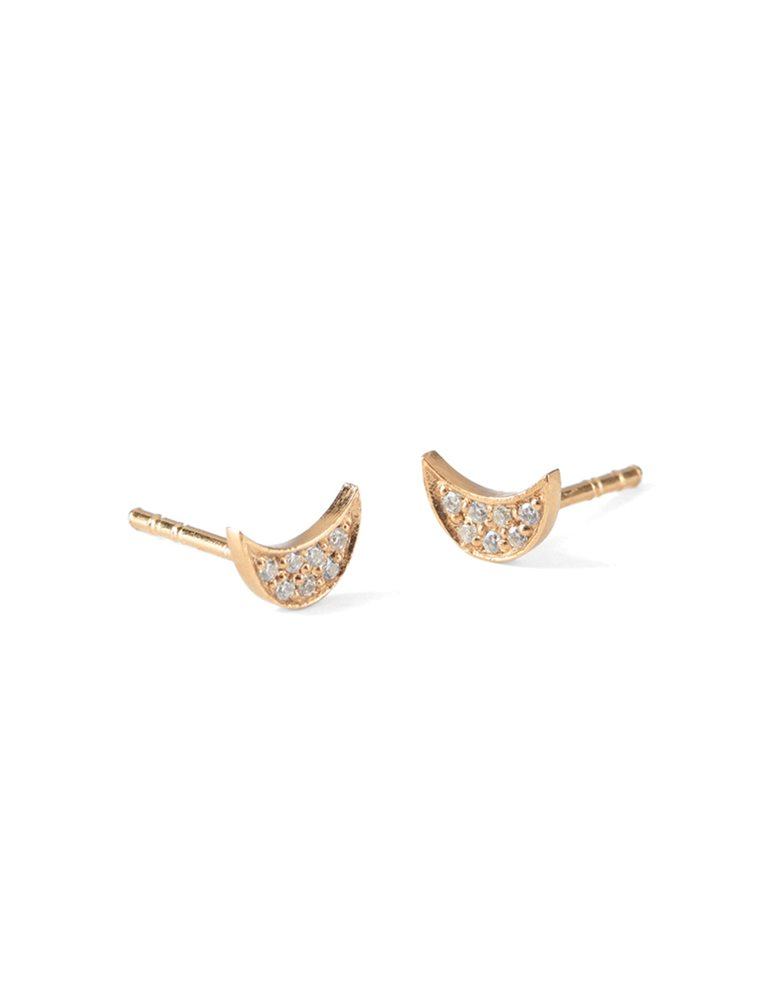 Luna Sparkle Earrings - Gold Image