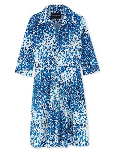 Audrey Dress  - Blue Seurat