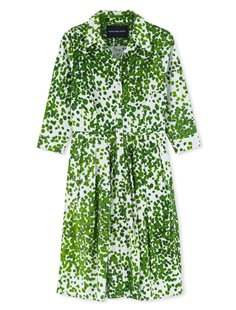Audrey Dress  - Green Seurat
