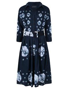 f3897b025648 Samantha Sung Audrey Dress - Nana Hand Shibori, Indigo - KJs Laundry