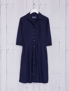 Audrey Dress - Solid - Indigo
