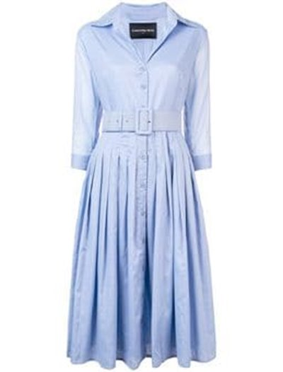 Audrey Dress  - Solid Soft Sky Blue