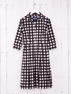 Audrey Dress - Tablecloth Gingham - Black