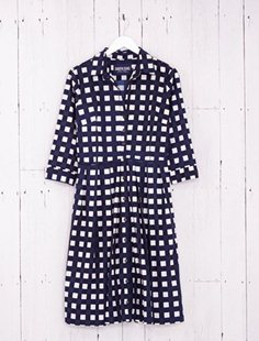 Audrey Dress - Tablecloth Gingham - Indigo