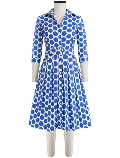 Audrey Dress Warhole Dots Sky Blue