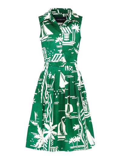 Claire Dress - Cote D Azur - Green
