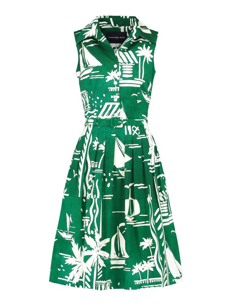 samantha sung claire dress cote d 39 azur green kjs. Black Bedroom Furniture Sets. Home Design Ideas