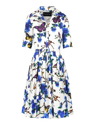 Claire Dress - Rose Butterfly - Cobalt Blue