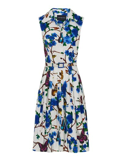 Claire Dress - Rose Butterfly, Ivory Blue
