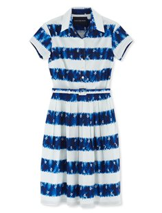 Claire Dress - Short Sleeve - Kanoko Shibori - Blue
