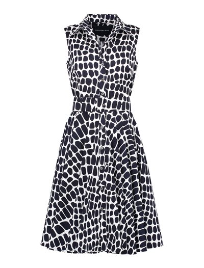 Gigi Dress - Love Python - White Indigo