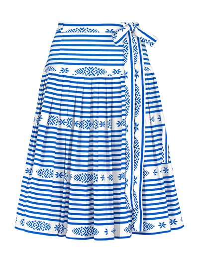 Milla Skirt - Santorini Stripe - Blue