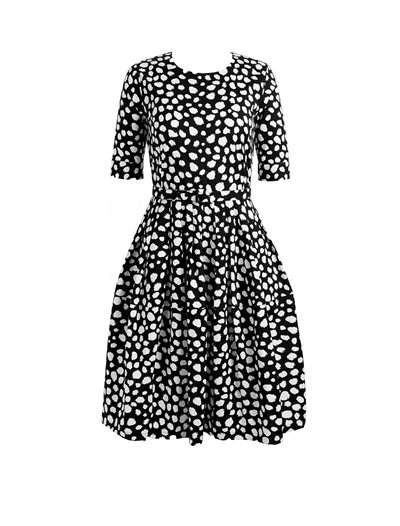Rachel Dress - Dalmation Black