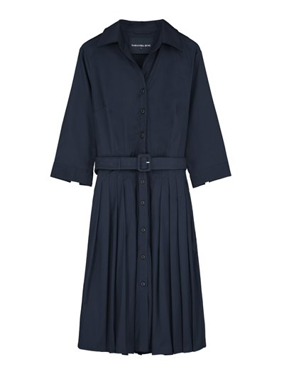 Solid Indigo Audrey Dress