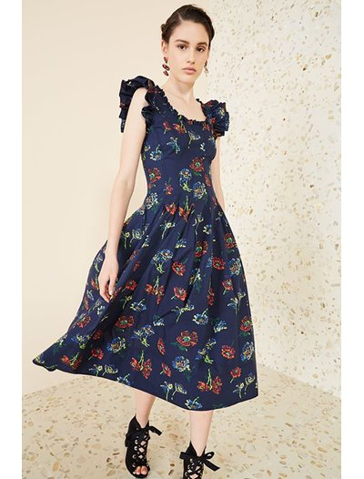 Camille Dress - Midnight Floral
