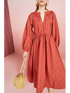Judithe Dress - Marsala Image