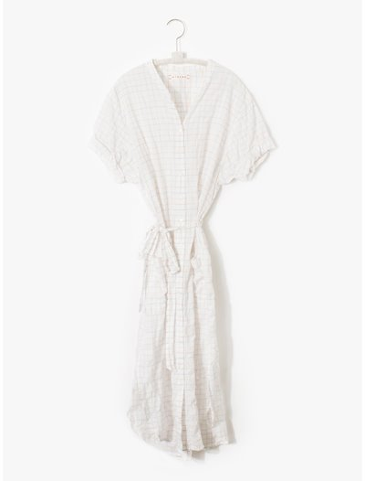 Alexa Shirt Dress  - White Sail