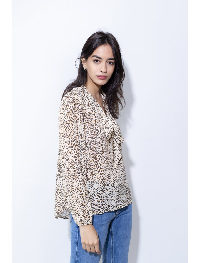 Kitty Blouse - Leopard Print Image