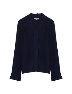 Lauren Frill Blouse - Navy