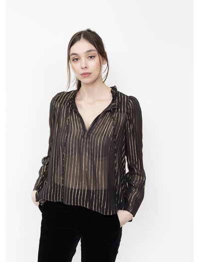 Vita Blouse - Gold Lurex