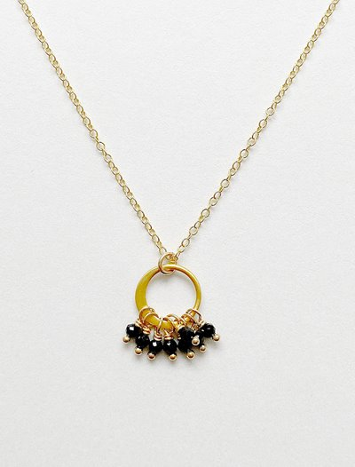 Cluster Necklace - Black Spinel