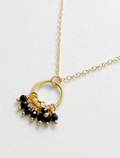 Cluster Necklace - Black Spinel Image