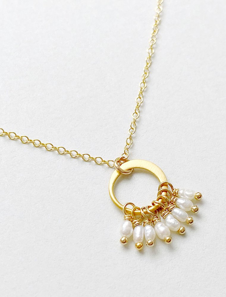 Cluster Necklace - Freshwater Pearl Image