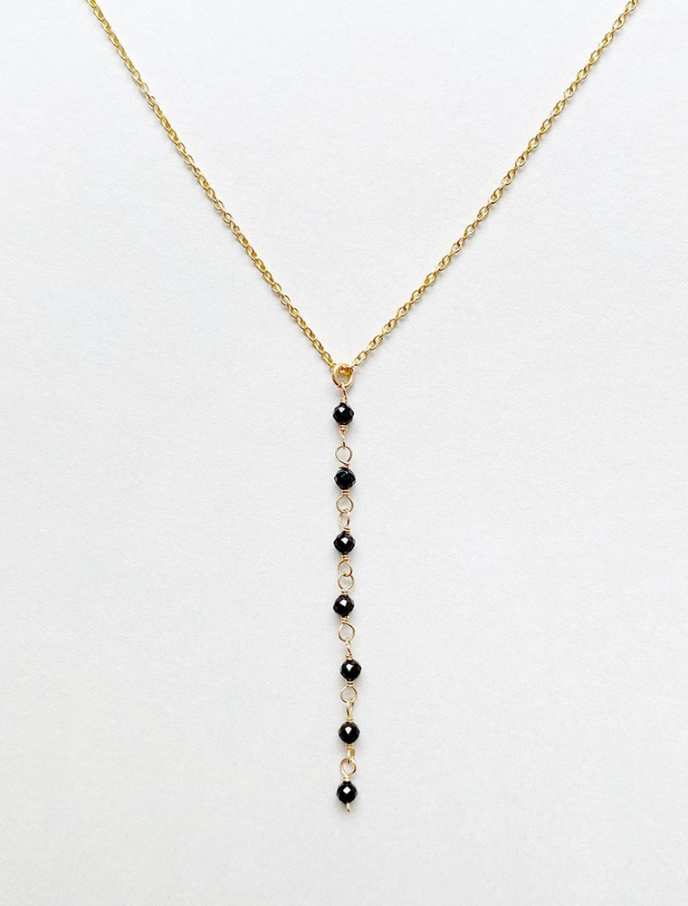 Lariat Necklace - Black Spinel Image