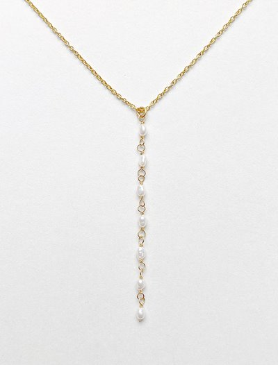 Lariat Necklace - Freshwater Pearl