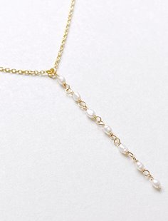 Lariat Necklace - Freshwater Pearl Image
