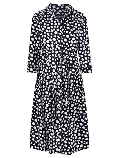 Audrey Dress - Dalmatian, Black White