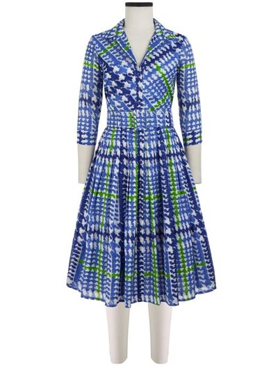 Audrey Dress - Musola Cotton - Glen Plaid Pastel