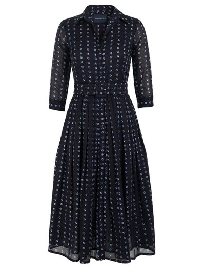 Midi Audrey Dress Knotty Knots Indigo Musola