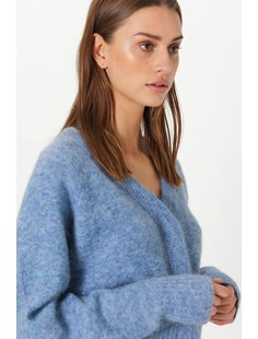 Brook Knit Boxy Cardigan - Blue Bonnet Image