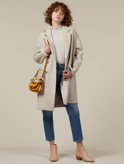 Blue Monk Coat - Calcaire