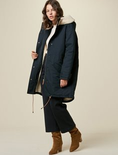 Wood Girl Jacket - Navy  Image
