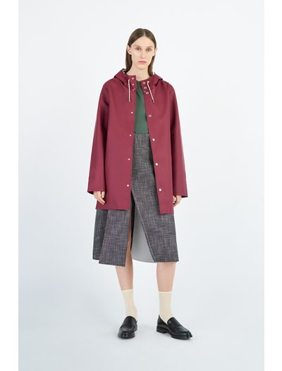 Stockholm Raincoat - Burgundy