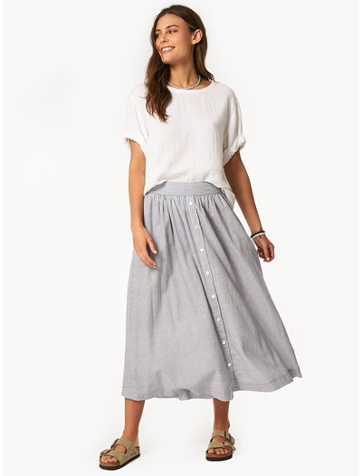 Teagan Skirt - Coast Stripe
